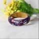 Bracelet à fleurs violet