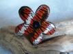 Broche fleur en argile polymère  tigré - collection afrique