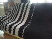 Couverture zigzag noir et blanc