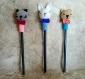 Décorations de stylos animaux au crochet