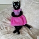 Chat maxigurimi au crochet et sa robe