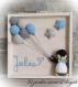 Tableau personnalisable pingouin au crochet