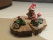 Porte photo décor de noël en pâte fimo