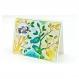 Carte postale oiseau bleu et jaune - carte anniversaire