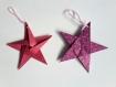 Décoration à suspendre au sapin / lot de 10 étoiles en origami