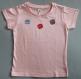 Tee shirt enfant rose peint à la main macarons