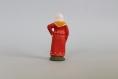 Santon en terre cuite :femme à la robe rouge