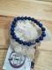 Bracelet homme bouddha  en lapis lazuli