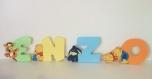 Lettres bébé winnie et ses amis en bois