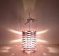 Lampe pole dance en bois artisanale
