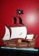 Portemanteaux mural enfant bateau pirate