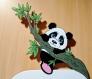 Plaque de porte panda pour prénom enfant