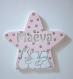 Plaque de porte poudre d'étoiles pour enfant