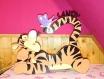 Lampe de chevet tigrou en bois personnalisable au prénom de l'enfant