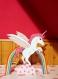 Lampe de chevet licorne arc en ciel en bois