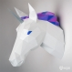 Projet diy papercraft: licorne