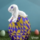 Projet diy papercraft: lapin de pâques
