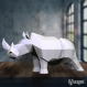 Projet diy papercraft: sculpture de rhino