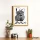 Projet diy papercraft: tête de terrier Écossais