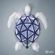 Projet diy papercraft: sculpture de tortue marine