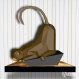 Projet diy papercraft: sculpture de singe curieux