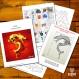 Projet diy papercraft: dragon chinois