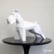 Projet diy papercraft: sculpture de schnauzer