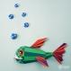 Projet diy papercraft: trophée de piranha