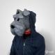 Projet diy papercraft: masque de schnauzer