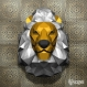 Projet diy papercraft: trophée de lion