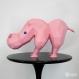 Projet diy papercraft: sculpture d´hippo, l´étrange hippopotame
