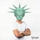 Projet diy papercraft: masque de la statue de la liberté