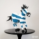 Projet diy papercraft: sculpture d'ebra, l´étrange zèbre