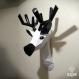 Projet diy papercraft: trophée de cerf amusant