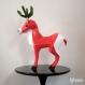Projet diy papercraft: sculpture de rudolph, le cerf amusant