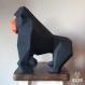 Projet diy papercraft: sculpture de gor, le gorille amusant