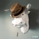 Projet diy papercraft: trophée de taureau amusant