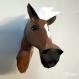 Projet diy papercraft: trophée de cheval amusant