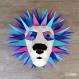 Projet diy papercraft: trophée de lion amusant
