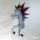 Projet diy papercraft: trophée de licorne amusante