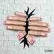 Projet diy papercraft: mains qui sortent du mur