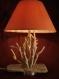 Lampe bois flotté & feuille d'or