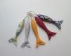 Poissons tissus multicolore, petit modèle - vendu a l'unite