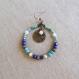 N°54 - boucles d'oreille créoles bronze, bleu turquoise et indigo