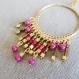 N°60 - boucles d'oreille créoles étincelantes or et rose !