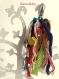 Gri gri de sac multicolore