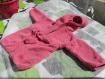 Peignoir à capuche 12 mois tricoté main