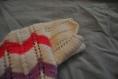 Pull rose manches courtes rayé tricoté à la main, pour bébé taille 6 mois