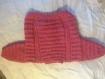 Veste rose ajourée tricotée main pour bébé taille 6 mois