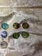 Bracelet snap , rose , 5 cordons de cuir